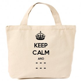 Personalised Keep Calm and Carry On Bags