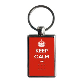 Personalised Keep Calm and Carry On Keyrings