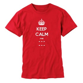 Personalised Keep Calm and Carry On T-shirts