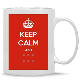Personalised Keep Calm and Carry On Mugs